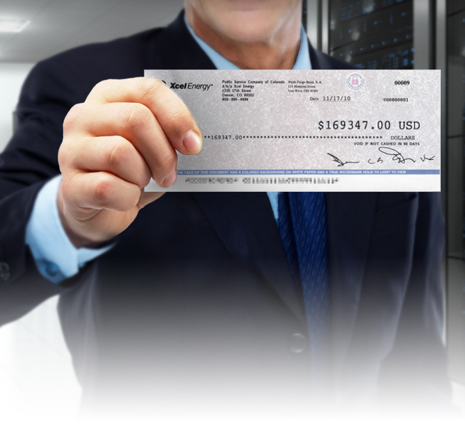 Homepage Banner Image showing Rebate Check