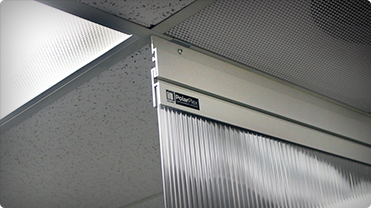 ceiling mounted air flow containment panels